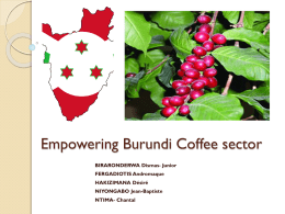 Empowering Burundi Coffee sector