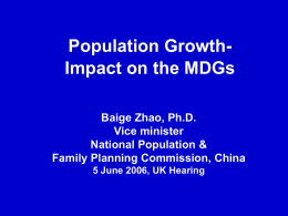 CHINA'S POPULATION & DEVELOPMENT
