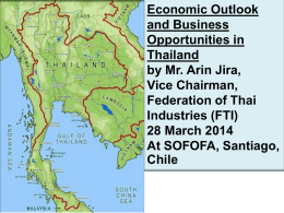 Thailand Investment Opportunity and Promising by Mr