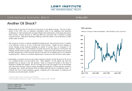 Another Oil Shock? - Lowy Institute for International Policy