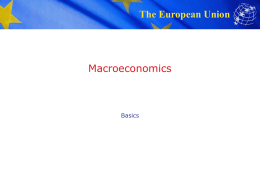 Macroeconomics - College of Arts and Sciences