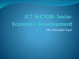 ICT SECTOR- Socio-Economic Development