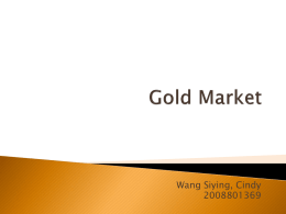 Gold Market - University of Hong Kong
