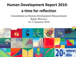 Human Development on the Move: Key Ideas and Work Plan