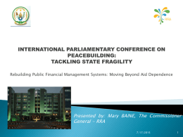 INTERNATIONAL PARLIAMENTARY CONFERENCE ON …