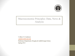 Macroeconomics: A Library Source Guide for ECO114A and …