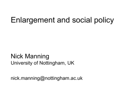 Nick Manning University of Nottingham