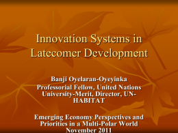Innovation and Development - ICRIER | Indian Council for