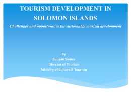 SOLOMON ISLANDS GOVERNMENT - United Nations Office for