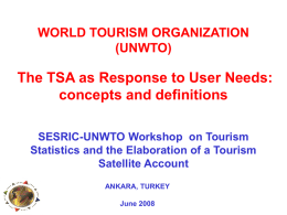 THE TSA AND OTHER MACROECONOMIC FRAMEWORKS