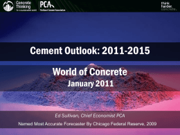 Welcome Insert Title Here - Portland Cement Association