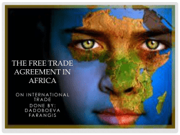 The Free Trade Agreement in Africa