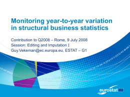 Monitoring year-to-year variation in structural business