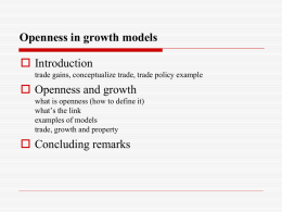 Openness in growth models