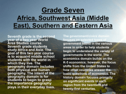 Grade Seven Africa, Southwest Asia (Middle East), Southern