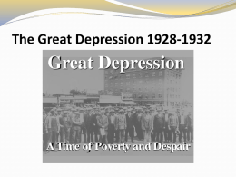 The Great Depression 1928-1932