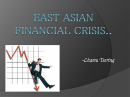 East Asian Financial Crisis - College of Arts & Sciences