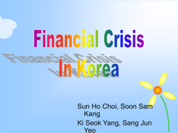 Financial Crisis in Korea