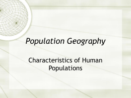 Population Geography - Mountain View School
