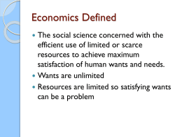 Economics Defined - Ajadaf