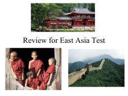 Review for East Asia Test - Collins Intermediate School