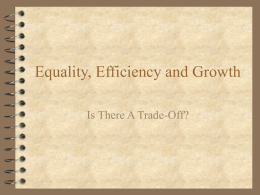 Equality, Efficiency and Growth