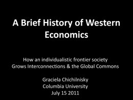 A Brief History of Western Economics
