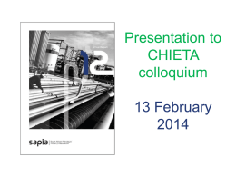 SAPIA 2012 Annual Report - Chemical Indusries Education