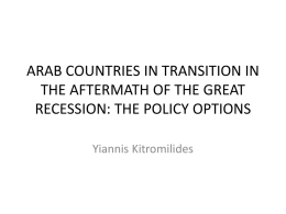 ARAB COUNTRIES IN TRANSITION IN THE AFTERMATH OF THE …
