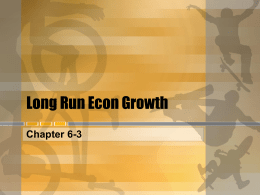 Long Run Econ Growth