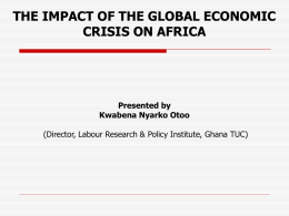 Impact of Global Economic Crisis on Africa