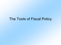 The Tools of Fiscal Policy