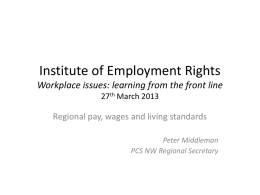Institute of Employment Rights 27th March 2013