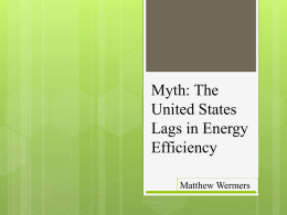 Myth: The United States Lags in Energy Efficiency