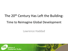 The 20th Century Has Left the Building: Time to Reimagine