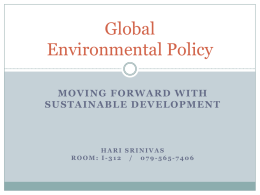 Seminar on Policy Studies - Global Development Research