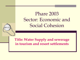Phare 2003 Sector: Economic and Social Cohesion