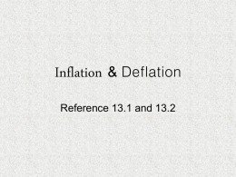 Inflation & Deflation - Vista Unified School District