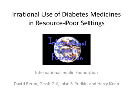 Irrational Use of Diabetes Medicines in Resource