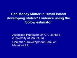 Can Money Matter in small island developing states