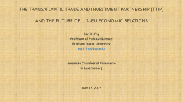 THE TRANSATLANTIC TRADE AND INVESTMENT PARTNERSHIP …