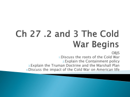 The Cold War Begins - Harpursville Middle School