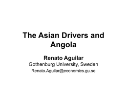 The Structure of Angola`s economy