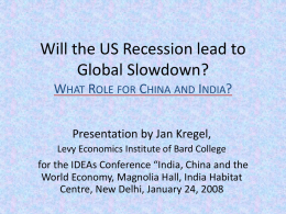Will the US Recession lead to Global Slowdown
