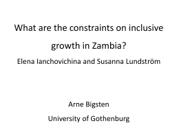Comments on What are the constraints on inclusive growth in