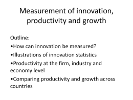 Measurement of innovation, productivity and growth