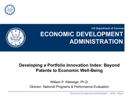 Developing a Portfolio Innovation Index