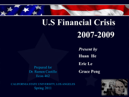 The U.S`s Financial Crisis of 2007-2009