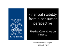 Financial stability from a consumer perspective