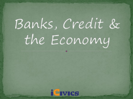 Banks and Credit PowerPoint